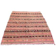 """Vintage Turkish Kilim Rug - 6'7"""" X 8'1"""" ($850) ❤ liked on Polyvore featuring home and rugs"""