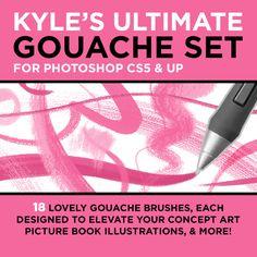 Kyle's ULTIMATE Gouache Mini Set for Photoshop