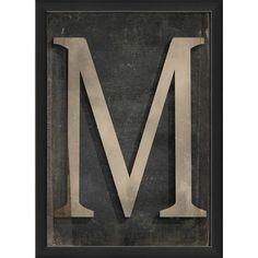 The Artwork Factory Letter M Framed Textual Art 102