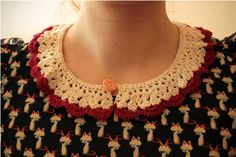 Háčkovaný límeček Crochet Collar, Crochet Necklace, Jewelry, Fashion, Moda, Jewlery, Bijoux, La Mode, Jewerly