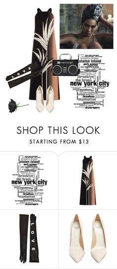 """""""Radio gaga"""" by curlysuebabydoll ❤ liked on Polyvore featuring Warehouse, Versace and Francesco Russo"""