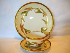 Awesome Limoges Trio Set ~ Plate, Cup & Saucer ~ Hand Painted with Calla Lily Flowers ~ Blakeman & Henderson & Coiffe Limoges France 1900-1914