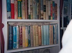 Gladys Taber's bookshelf at Stillmeadow Farm