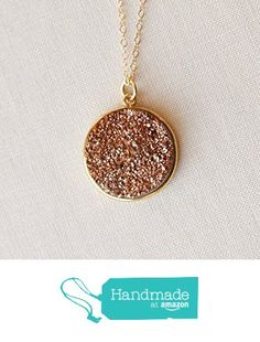 Rose Gold Druzy Necklace 14K Gold Handmade Size Small from Adorn512 https://www.amazon.com/dp/B018WD3QFM/ref=hnd_sw_r_pi_dp_L1AYybZ4ZBDA9 #handmadeatamazon