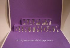 Happy Birthday pop-up card free template