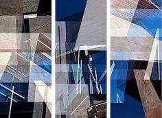 Jenny Okun, Morphosis Beverly Building Triptych, 1998 / 2012 © uk.lumas.com/ #Lumas