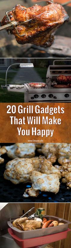 Having the right gear makes grilling easier and more fun, which is why we've put together a list of 20 grill gadgets and recipes that will make you happy and help you grill better food. #grilling #grill #gadgets #cooking #gifts #gear
