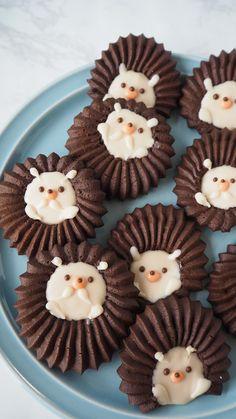 Cute Snacks, Yummy Snacks, Yummy Food, Baking Recipes, Cookie Recipes, Kawaii Cooking, Cute Baking, Biscuits, Cookie Gifts