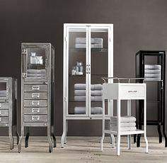 Lovely Metal Pharmacy Bath Cabinet