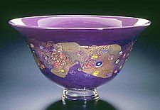Hyacinth Blossom Bowl by Ken Hanson and Ingrid Hanson (Art Glass Bowl)