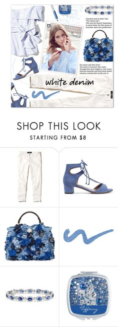 """Bright White: Summer Denim"" by xiandrina ❤ liked on Polyvore featuring Hollister Co., Tabitha Simmons, Fendi, Blue Nile, Marc Jacobs and whitejeans"