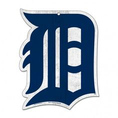 Detroit Tigers Wood Sign – 11″x14″ – Old English D