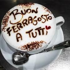 Risultati immagini per buon ferragosto immagini Italian Greetings, Latte Art, Morning Coffee, Tea Cups, Pudding, Tasty, Tableware, Desserts, Cappuccinos