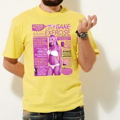 Less Cake T Shirt from More T Vicar