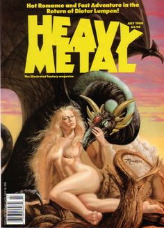 Heavy Metal - July 1989 - Cover by Rowena Morrill