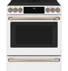 Cafe 5 Elements Self-Cleaning And Steam Cleaning Single-Fan European Element Slide-In Induction Range (Fingerprint-Resis Ottawa, Calgary, Double Oven Range, Slide In Range, High End Kitchens, Single Oven, 5 Elements, Glass Cooktop, Thing 1