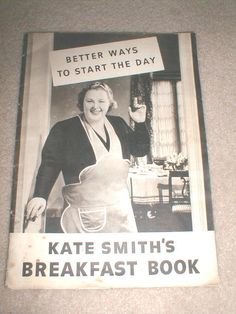 This is a 1941 issue of Kate Smith's Breakfast Book from General Foods Corp. There are 48 pages of recipes and cooking ideas promoting and using General Foods products. These include Grape-Nut Flakes,...
