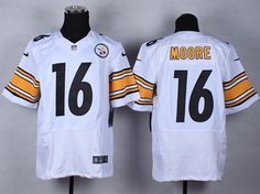 "$23.88 at ""MaryJersey"" (maryjerseyelway@gmail.com) #16 Lance Moore, #10 Martavis Bryant - Nike Steelers White Men Stitched NFL Elite Jersey"