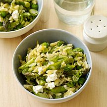 Orzo with Lemon, Asparagus and Peas