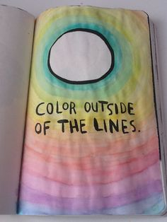 Color Outside the Lines; Wreck this Journal
