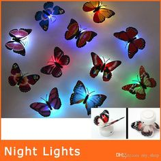 Wholesale Colorful Fiber Optic Butterfly Nightlight 3w Led Butterfly For Wedding Room Night Light Party Decoration Wall Lights Nl009 By My_shop Under $1.05 | Dhgate.Com