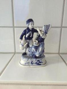 Delfter Porzelan-Figuren in Leun