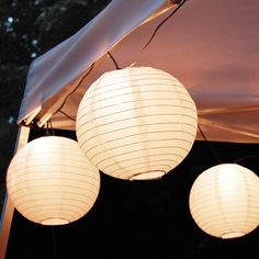 Lumabase White Electric String Light with 10 Paper Lanterns White Paper Lanterns, Lantern String Lights, Clear Light Bulbs, Light Bulb Types, Battery Powered String Lights, White String Lights, Chinese Lanterns, Light Decorations, A Table