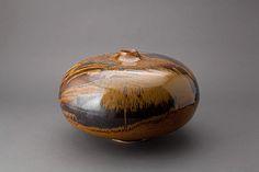 Thomas Bezanson, Northern Celadon with Iron Yellow Glaze, Pucker Gallery Boston Pottery Vase, Vases, Glaze, Boston, Pots, Christmas Bulbs, Bottles, Brother, Iron