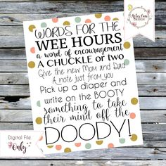 Words for the Wee Hours - Baby Shower Activity - Digital Download by AsterLaneDesign on Etsy https://www.etsy.com/listing/277517906/words-for-the-wee-hours-baby-shower