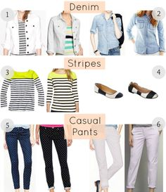 Current J. Crew looks for less. Great for the budget conscious fashionista.