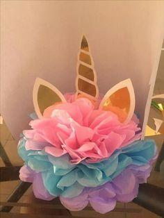 Centro de mesa #cumpleaños  #unicornio