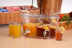 Beverage Dispenser with Single Lid and Two Compartments
