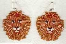 lion beaded earrings | lion earrings pattern you are going to love these lion earrings ...