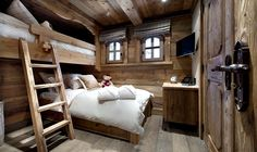 Chalet Interior with Warm Wood Decoration Ideas and Modern Home Appliances : Cozy Bedroom With White Pillows Facing Wooden Storage Under Tv Applied In The Chalet Interior Design Cabin Interiors, Rustic Interiors, Chalet Interior, Interior Design, Ski Chalet Decor, Rustic Bedroom Design, Wooden Bedroom, Rustic Design, Rustic Bedrooms