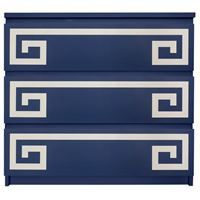 Show details for Greek Key Double O'verlay Kit for IKEA MALM (3 drawer)