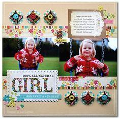 #papercraft #scrapbook #layout All Girl - Scrapbook.com  Wendy Schultz onto Scrapbook Art.