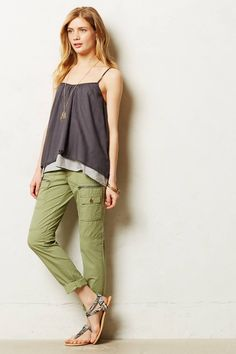 Anthropologie Pilcro Hypen Cargos in Green (MOSS) | Lyst