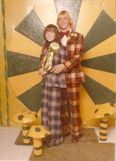 Prom, 1970s--Yes! Clothes were really that ugly in the 70s! :-)