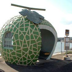 バス ストップ- Cantaloupe Bus Stop