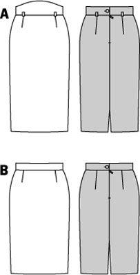 burda style pencil skirt