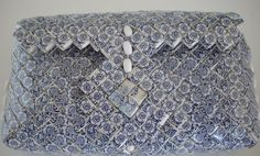 Beautiful Tramp Art Woven Paper Handbag  | Tramp Art, Hobo Art, Prison Art