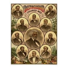 1883 Distinguished Colored Men Poster