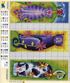 Cross-stitch. Some cute cats! @Nasreen Tamimi Nabaoui @Rachel Bitton