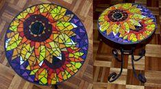 Sunflower mosaic table by EleonoraIlieva.deviantart.com on @deviantART