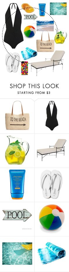 """PUT ONE LIKE! TANKS "" by alessia-only ❤ liked on Polyvore featuring Style & Co., Karla Colletto, Luigi Bormioli, Sunset West, Shiseido, Lola James Harper and coverups"