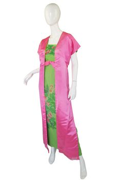 1950s Philip Hulitar Strapless Silk Gown 4