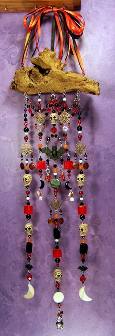 Samhain Altar on the Wind - by EarthStarStudios love this! something on this theme but without skulls and spiders??
