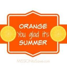 Orange you glad it's summer printable gift tags. Perfect for an end of the year gift for teachers, staff and friends.