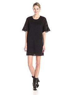 Rebecca Minkoff Women's Kristine Mesh Flutter Sleeve Shift Dress...