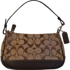 Coach Signature Demi Pouch Signature Demi Pouch Bag. Canvas and leather. New, never used. Coach Bags Mini Bags